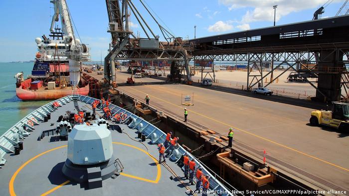 Australien Darwin Hafen | Fregatte Huangshan der chinesischen Volksbefreiungsarmee Navy
