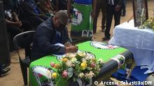 Mosambik Gedenkfeier dritter Jahrestag des Todes von RENAMO-Führer Afonso Dhlakama