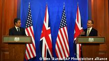 UK US-Außenminister Antony Blinken Bristischer trifft Außenminister Dominic Raab