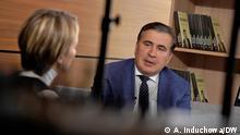 Михаил Саакашвили в интервью корреспонденту DW Александре Индюховой