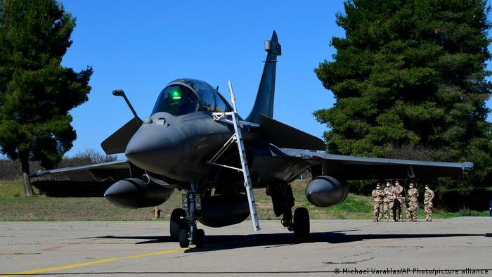 Griechenland Rafale Kampfjet der französischen Luftwaffe