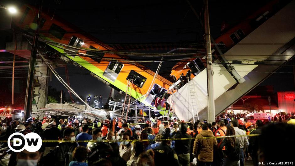 Mexico City: Metro train bridge collapse leaves several dead | DW | 04.05.2021