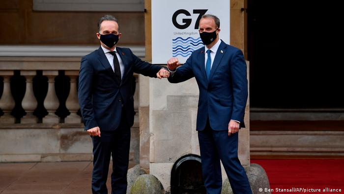 London: Heiko Maas and Dominic Raab