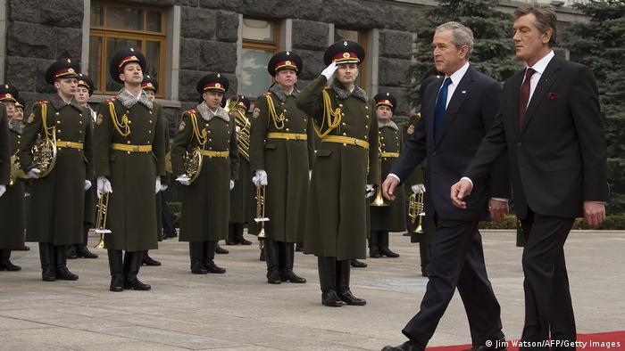 Ukraine Kiew 2008 | Besuch George W. Bush, US-Präsident | mit Wiktor Juschtschenko