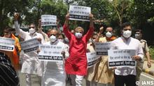 Indien Kalkutta West Bengal Proteste nach Wahlen