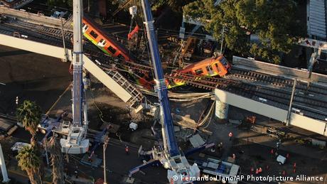 Mexiko Metrounfall in Mexiko City