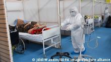 Tunesien Covid-19-Station in einem Krankenhaus in Tunis