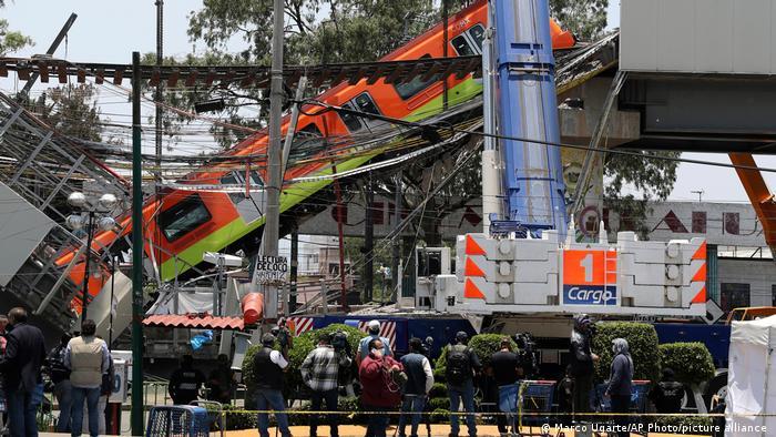 Mexiko Metro Zusammenbruch