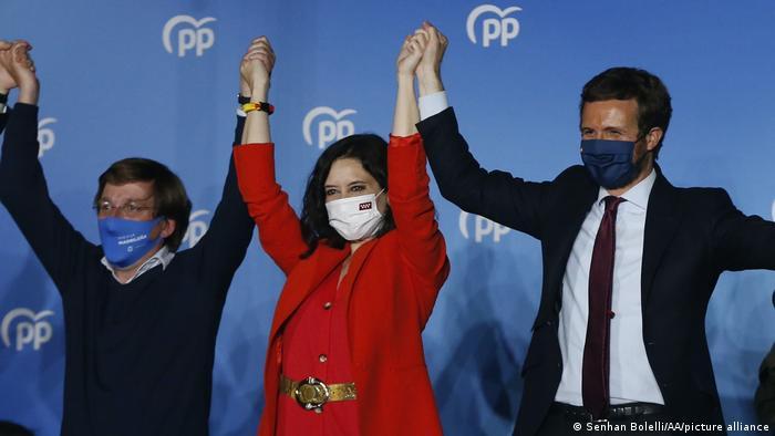 Foto de Isabel Díaz Ayuso tras elección