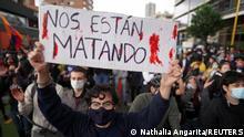 Kolumbien Proteste in Bogotá