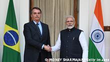 Indien Neu Delhi | Jair Bolsonaro und Narendra Modi
