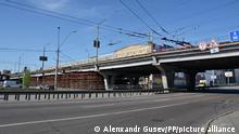 Ukraine l Brückenarbeiten in Shulyavka, Kiew