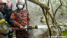 Bangladesch Feuer im Mangrovenwald Sundabans