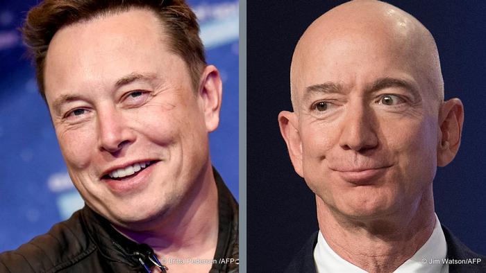 Илон Мъск и Джеф Безос са сред най-богатите хора в света