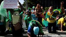 Brasilien Protest zur Unterstützung des brasilianischen Präsidenten Jair Bolsonaro