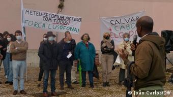 Portugal Solidaritätsprotest in Lissabon für die Menschen in Cabo Delgado