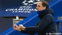 Thomas Tuchel celebrates Chelsea's victory over Real Madrid