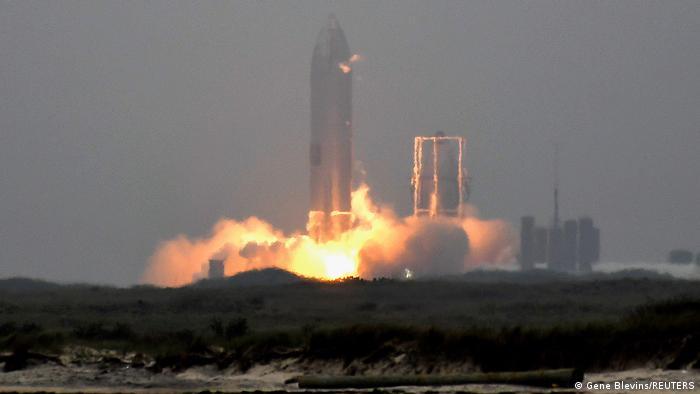 Der Start der Starship-Rakete