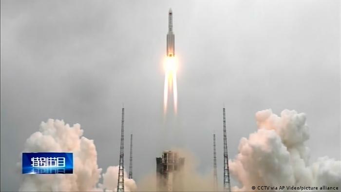 Lanzamiento espacial chino.