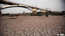 Der Fluss Karun im Süden des Irans war der einzigen schiffbaren Fluss des Landes Thema: Wasserknappheit im Iran Quelle: ISNA