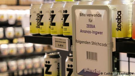 Einkaufen im Test-Supermarkt Go2Market in Wien - Strichcode zum Scannen