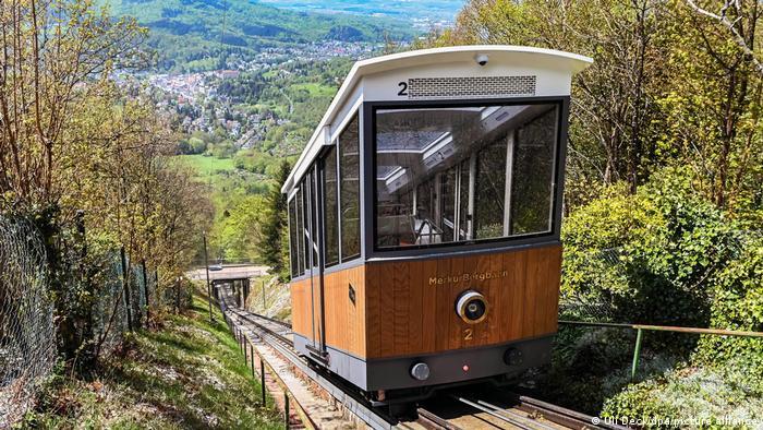Новый вагон Фуникулера на гору Мерку в Баден-Бадене