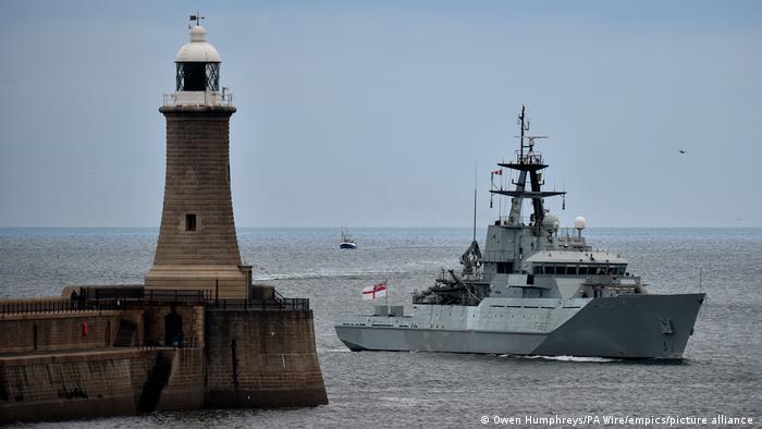 Британский сторожевой корабль HMS Severn