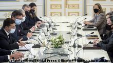 Ukraine Kiew | Wolodymyr Selenskyj, Präsident & Anthony Blinken, US-Außenminister