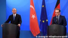 Berlin PK Außenminister Maas und Cavusoglu