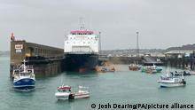 Saint Helier | Französische Fischer blockieren Hafen von Jersey