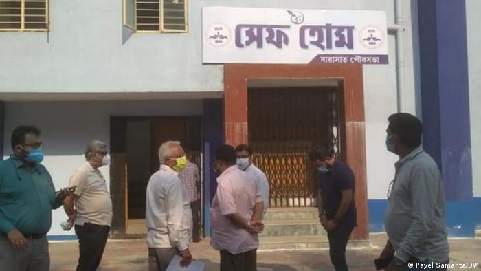 Indien Westbengalen Isolationszentrum für Covid-19 Patienten
