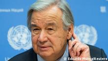20.11.20202, New York, USA, FILE PHOTO: United Nations Secretary-General Antonio Guterres listens a question during a news conference at U.N. headquarters in New York City, New York, U.S., November 20, 2020. REUTERS/Eduardo Munoz/File Photo