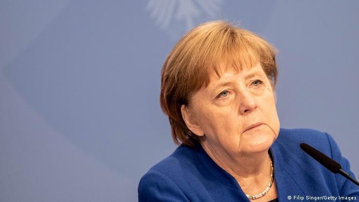 Angela Merkel beim digitalen Petersberger Klimadialog