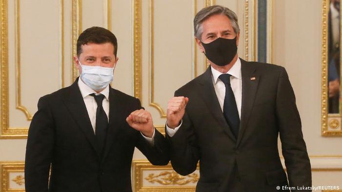 Владимир Зеленский и Энтони Блинкен во время пресс-конференции