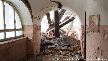 Interior of Dresden Barracks, the largest and most damaged building in the Main Fortress of Theresienstadt