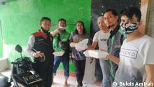 2021, Bremen, Bulqis Amirah, studentin aus Indonesien helping food donation