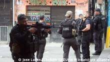 Brasilien Polizeieinsatzaktion gegen Drogenhändler in der Jacarezinho-Favela in Rio de Janeiro