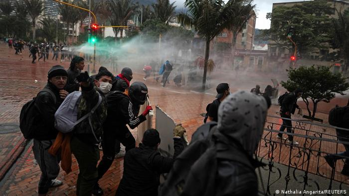 Foto de manifestantes en Bogotá