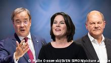 Die Kanzlerkandidaten zur Bundestagswahl 2021.