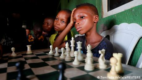 A Nigerian chess master is giving back to the Lagos slum communities he grew up in.