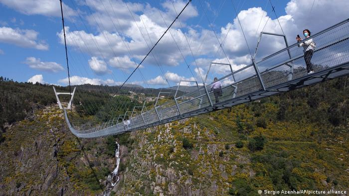 Portugal Fußgängerbücke Hängebrücke
