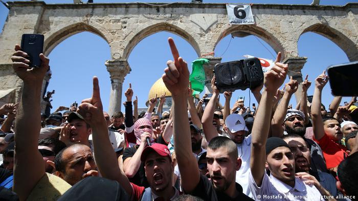 Ost-Jerusalem Proteste von Palästinensern