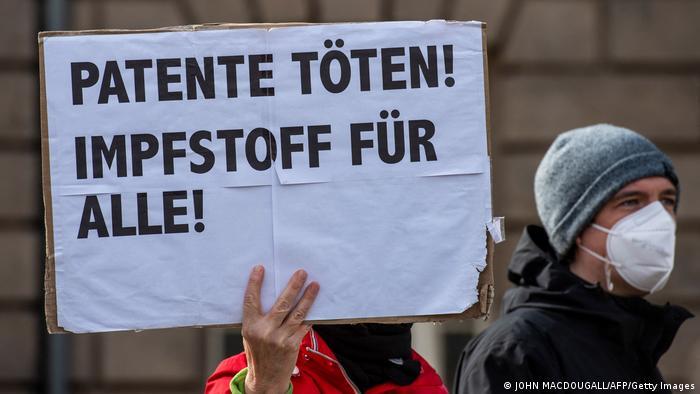 Deutschland | Demonstration zur Freigabe der Impfstoff Patente