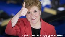 Schottische Parlamentswahl 2021 – SNP-Chefin und Nicola Sturgeon Ministerpräsidentin