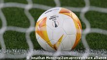 May 6, 2021, Rome, United Kingdom: Rome, Italy, 6th May 2021. A Molten UEFA Europa League official matchball during the UEFA Europa League match at Stadio Olimpico, Rome. Picture credit should read: Jonathan Moscrop / Sportimage(Credit Image: © Jonathan Moscrop/CSM via ZUMA Wire