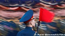 BDTD Russland Probe Tag des Sieges Soldat