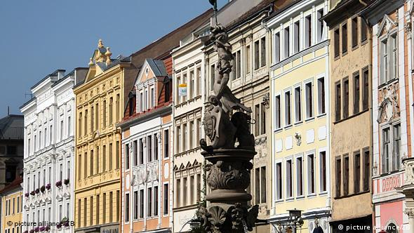 Old buildings in a German city center