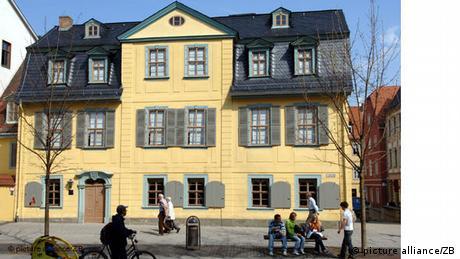 A casa de Schiller em Weimar