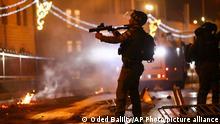 ادامه درگیریها در منطقه پیرامونی دروازه دمشق، اورشلیم نهم مه ۲۰۲۱