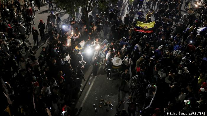 Foto de protestas en Bogotá